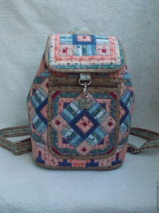 """Рюкзаки ручной работы. Ярмарка Мастеров - ручная работа. Купить Рюкзак лоскутный, """"Монпансье"""", Маленький, Текстильный, Городской. Handmade."""