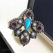 Винтаж handmade. Livemaster - original item Brooch Sarah Coventry USA 60-ies of the Fleur-de-Lis. Handmade.