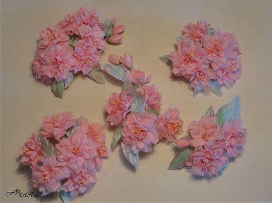 """Цветы ручной работы. Ярмарка Мастеров - ручная работа. Купить Свадебный комплект """"Сакура 2"""". Handmade. Свадьба, цветы из ткани"""