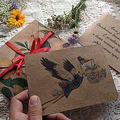 Открытки handmade. Livemaster - original item A letter from the stork pregnancy Announcement. Handmade.