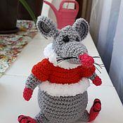 Мягкие игрушки ручной работы. Ярмарка Мастеров - ручная работа Крыс новогодний. Handmade.