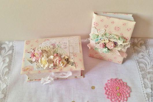 Блокноты ручной работы. Ярмарка Мастеров - ручная работа. Купить Комплект шкатулка + блокнот. Handmade. Розовый
