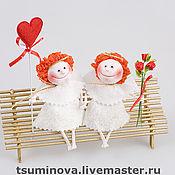 Куклы и игрушки ручной работы. Ярмарка Мастеров - ручная работа Ангелочки на скамейке. Handmade.