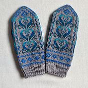 Аксессуары handmade. Livemaster - original item Mittens knitted handmade Swans. Handmade.
