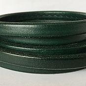 Материалы для творчества ручной работы. Ярмарка Мастеров - ручная работа Кожаный шнур регализ, зеленый. Handmade.