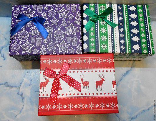 Упаковка ручной работы. Ярмарка Мастеров - ручная работа. Купить Новогодняя подарочная коробка. Handmade. Коробочка, коробка новогодняя