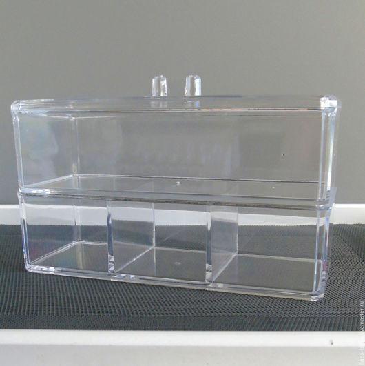 Органайзеры для рукоделия ручной работы. Ярмарка Мастеров - ручная работа. Купить Органайзер  2 яруса коробка бокс. Handmade. Белый