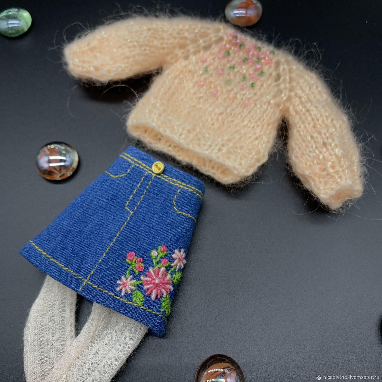 Комплект одежды для куклы Блайз Юбка и Свитер Аутфит, Одежда для кукол, Краснодар, Фото №1