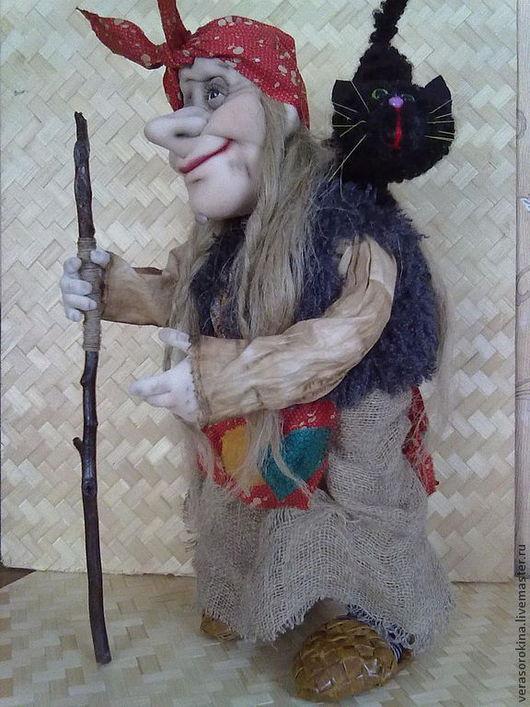 Коллекционные куклы ручной работы. Ярмарка Мастеров - ручная работа. Купить Интерьерная кукла Баба Яга. Handmade. Баба яга