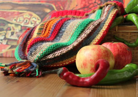 Шапки ручной работы. Ярмарка Мастеров - ручная работа. Купить Шапка Праздник урожая. Handmade. Шапка, разноцветная, шапка бини