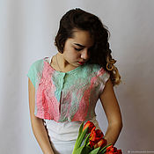 Одежда handmade. Livemaster - original item Felted Bolero Tenderness of Spring. Handmade.