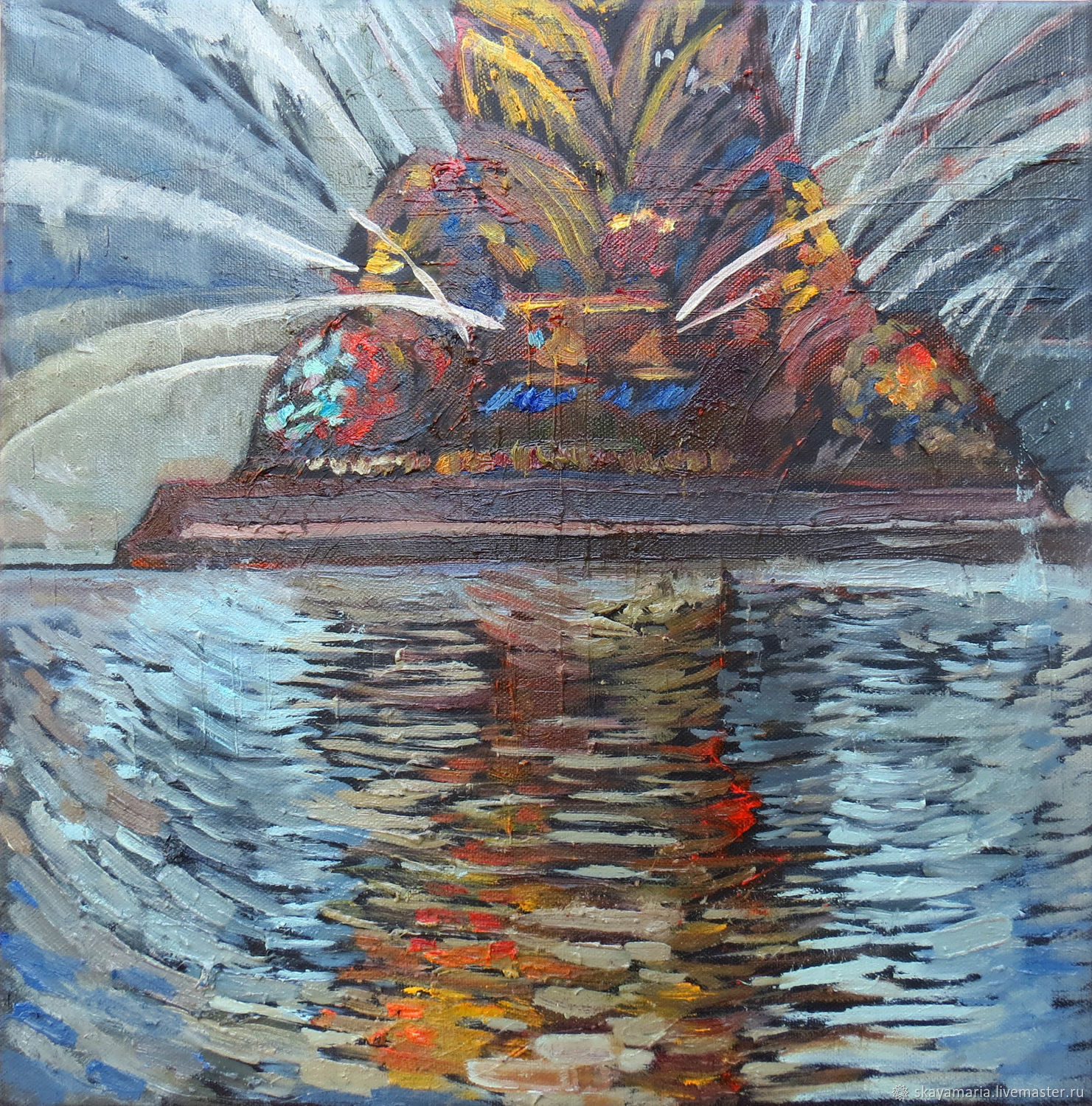Oil painting. Golden spike, Pictures, Moscow,  Фото №1