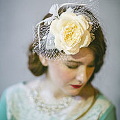 Аксессуары ручной работы. Ярмарка Мастеров - ручная работа Изящная шляпка с вуалью и цветком. Handmade.