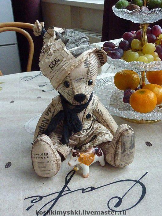 Мишки Тедди ручной работы. Ярмарка Мастеров - ручная работа. Купить Газетный мишка. Итальянец.. Handmade. Газета, бумага