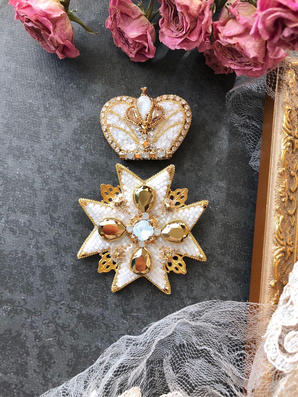 Брошь корона, Броши, Ковров, Фото №1