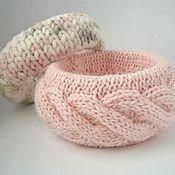 Украшения handmade. Livemaster - original item Set knitted bracelets Marshmallow harness and foam cappuccino. Handmade.