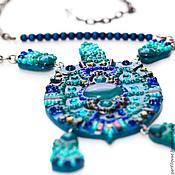 Украшения handmade. Livemaster - original item Azure turtle. Handmade.