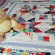 Для дома и интерьера ручной работы. Ярмарка Мастеров - ручная работа Лоскутное одеяло для мальчика. Handmade.