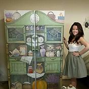 Дизайн и реклама ручной работы. Ярмарка Мастеров - ручная работа Роспись холодильника-бабушкин буфет:). Handmade.