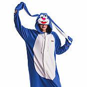 Субкультуры handmade. Livemaster - original item Crazy Bunny Kigurumi - Custom Handmade - Anti-pill Fleece Pyjamas. Handmade.