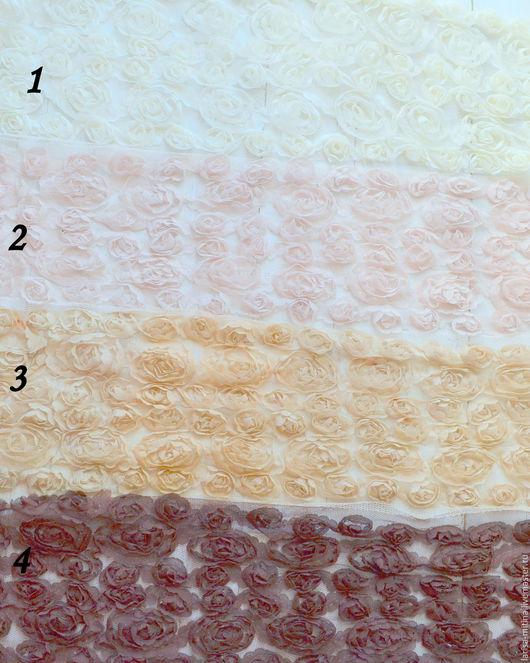 Шитье ручной работы. Ярмарка Мастеров - ручная работа. Купить 4 цвета Кружево розы 12 см. Handmade.
