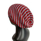 handmade. Livemaster - original item Red Labyrinth Unisex Hat