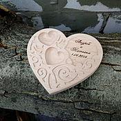 """Свадебный салон handmade. Livemaster - original item Подставка под обручальные кольца """"Сердце"""". Handmade."""