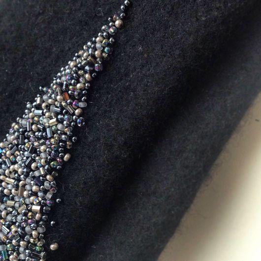 """Варежки, митенки, перчатки ручной работы. Ярмарка Мастеров - ручная работа. Купить Валяные митенки """"Silver sparkles"""". Handmade. Митенки"""