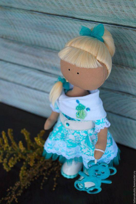 Коллекционные куклы ручной работы. Ярмарка Мастеров - ручная работа. Купить Текстильная кукла. Handmade. Тёмно-бирюзовый, американский хлопок