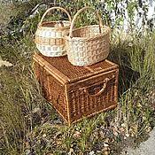 """Свадебный салон ручной работы. Ярмарка Мастеров - ручная работа """"Сундук для приданого"""" плетеный тонированный. Handmade."""