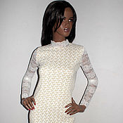 Одежда ручной работы. Ярмарка Мастеров - ручная работа Платье с кружевом. Handmade.