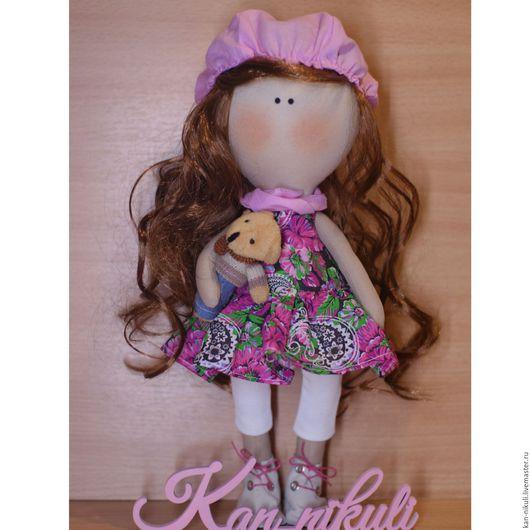 Коллекционные куклы ручной работы. Ярмарка Мастеров - ручная работа. Купить Кукла текстильная Лиза. Handmade. Комбинированный, кукла в подарок