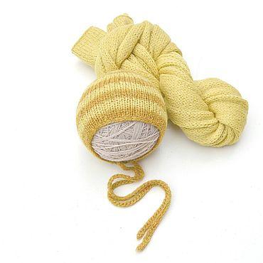 Товары для малышей ручной работы. Ярмарка Мастеров - ручная работа Вязаная обмотка + чепчик для фотосессии новорожденной. Handmade.