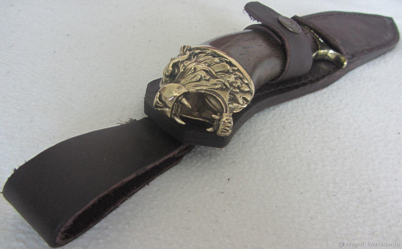 KNIFE 'LION' - 28 cm. Steel 65H13H. Hunting Fishing Camping Hiking, Knives, Vacha,  Фото №1