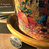 """Цветы и флористика ручной работы. Ярмарка Мастеров - ручная работа Цветочный горшок """"Веселый сентябрь!"""". Handmade."""