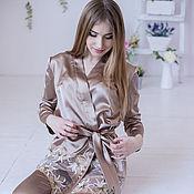 Одежда handmade. Livemaster - original item Suit, pajamas satin, suit pajama style