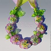 """Украшения ручной работы. Ярмарка Мастеров - ручная работа Колье """"Яблочный цвет"""". Handmade."""