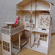 Кукольный дом деревянный 90 см