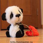 Куклы и игрушки ручной работы. Ярмарка Мастеров - ручная работа Бамбо и плюшевое сердце. Handmade.