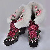Footwear handmade. Livemaster - original item Boots felted Margarita. Handmade.