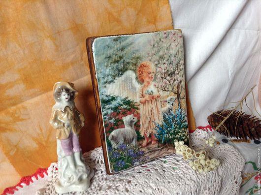 Фэнтези ручной работы. Ярмарка Мастеров - ручная работа. Купить Панно с Ангелом у дерева.. Handmade. Ангел, Ангел хранитель
