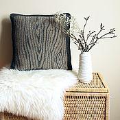 Схемы для вязания ручной работы. Ярмарка Мастеров - ручная работа Woody pillow (описание). Handmade.