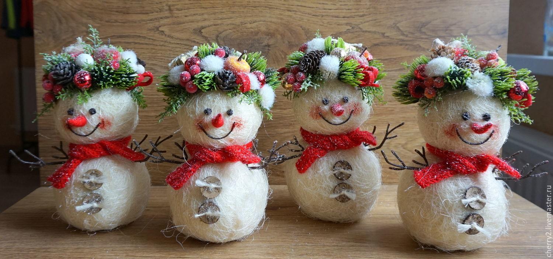 Снеговик из меха своими руками