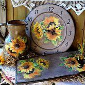 """Наборы ручной работы. Ярмарка Мастеров - ручная работа Комплект для кухни """"цветок  Солнца"""". Handmade."""