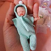 Куклы Reborn ручной работы. Ярмарка Мастеров - ручная работа Мини реборн из полимерной глины Анечка. Handmade.
