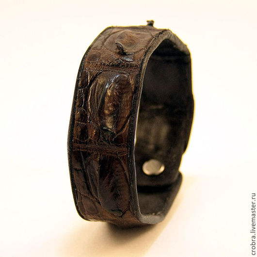 Браслеты ручной работы. Ярмарка Мастеров - ручная работа. Купить Хребет рептилии браслет. Handmade. Коричневый, браслет из кожи