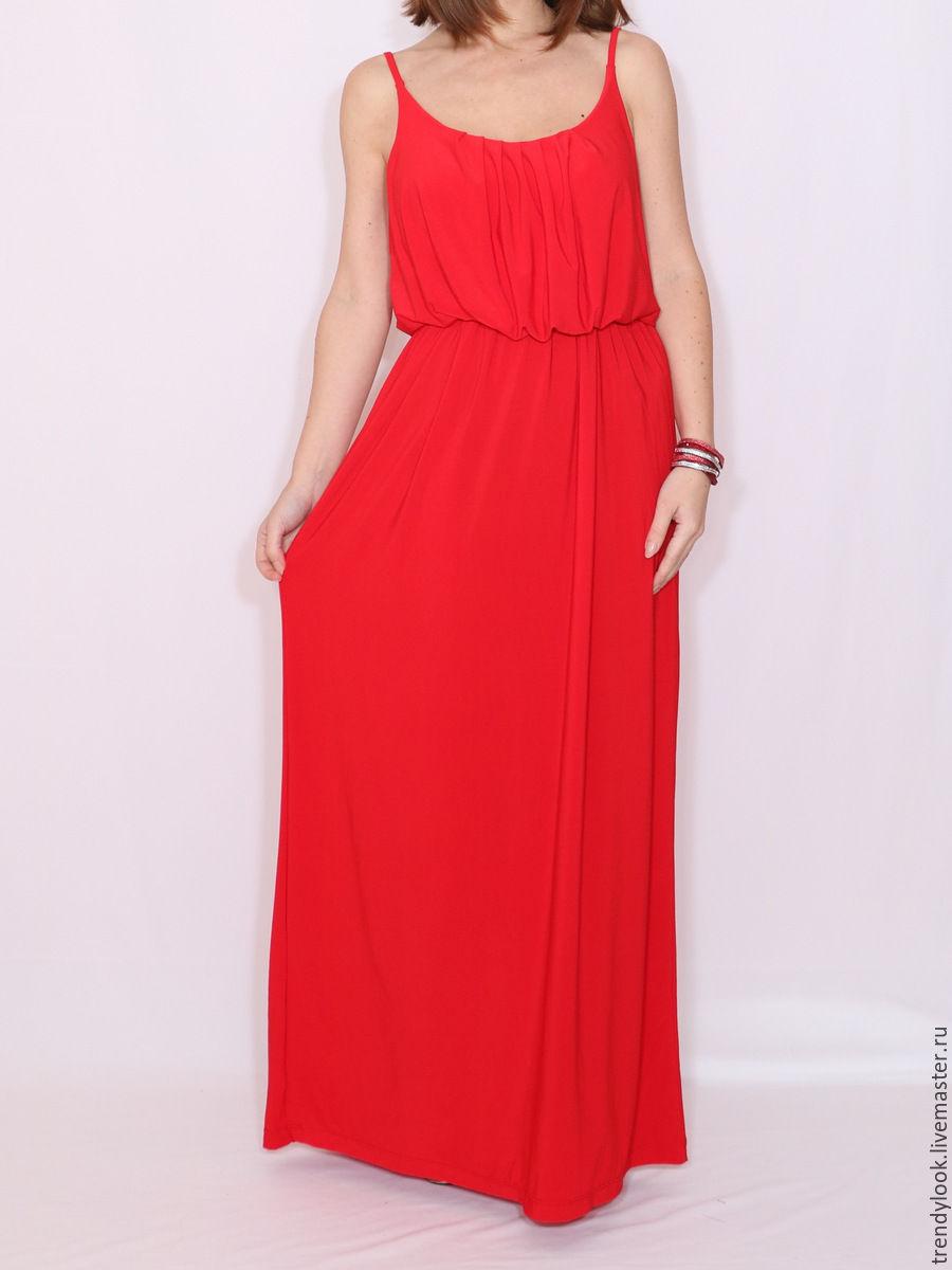 4e6d472e445fd Платья ручной работы. Ярмарка Мастеров - ручная работа. Купить Красное  Платье летнее сарафан на ...