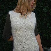 Одежда ручной работы. Ярмарка Мастеров - ручная работа Жилет из собачьей шерсти. Handmade.