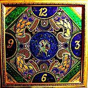 """Часы классические ручной работы. Ярмарка Мастеров - ручная работа Часы настенные """"Изумительные"""".. Handmade."""