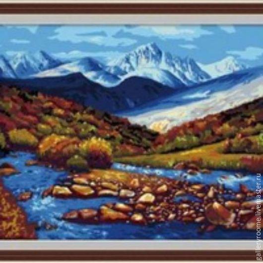 Другие виды рукоделия ручной работы. Ярмарка Мастеров - ручная работа. Купить Картина по номерам Горный пейзаж. Handmade. Пейзаж